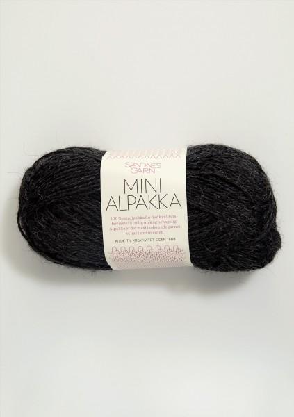 Mini Alpakka Anthrazit-Meliert