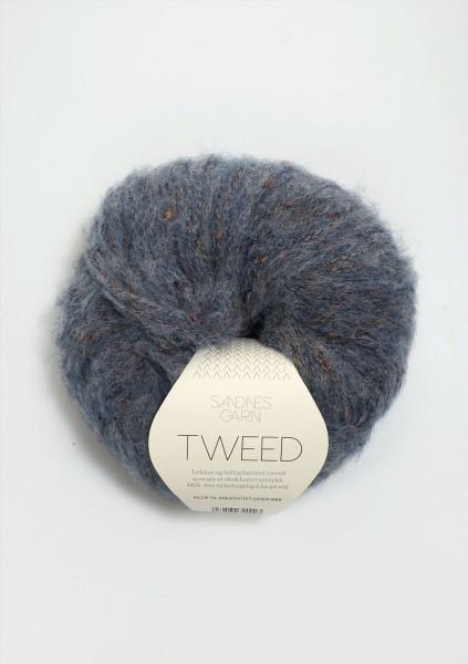 Tweed Blau