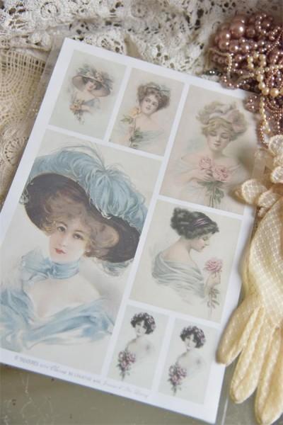 Bogen mit nostalgischen Frauenbildern