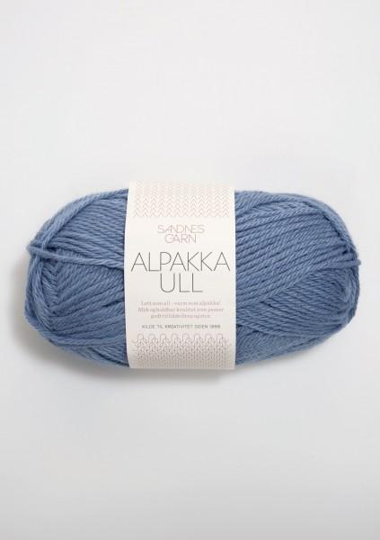 Alpakka Ull Jeansblau