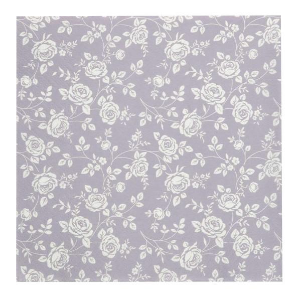 Serviette Rose/Lavendel