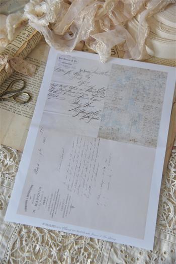 Bogen mit nostalgischen franz. Texten