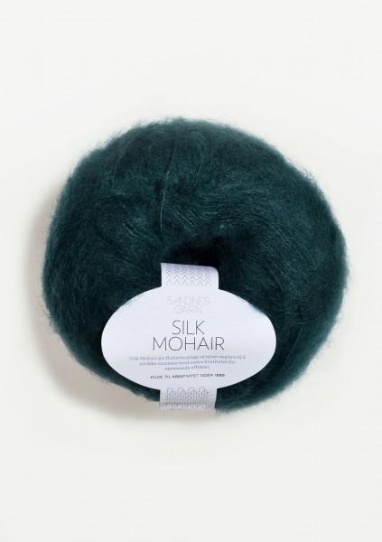 Silk Mohair Dyp Petrol