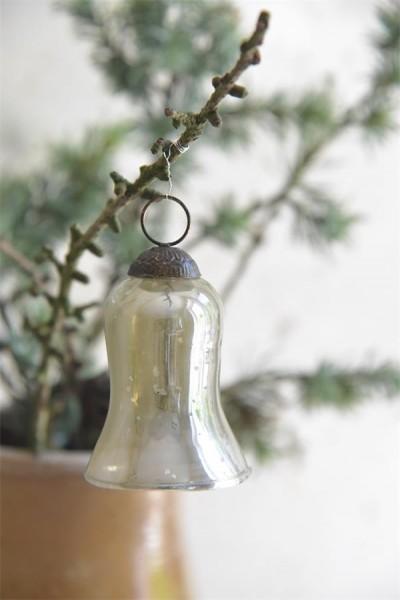 Weihnachtsschmuck Glocke Antique Silver Finish