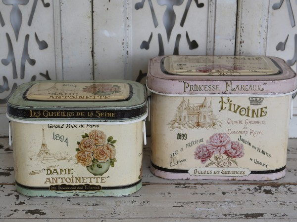 "Metall-Boxen ""Dame Antoinette"" (2)"