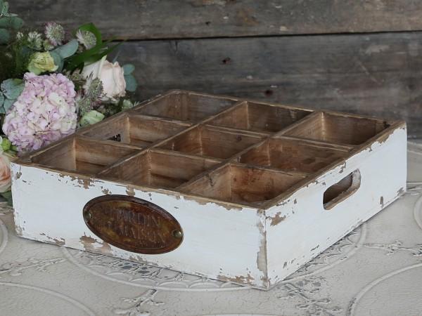 Vintage-Holzkästchen mit Fächern