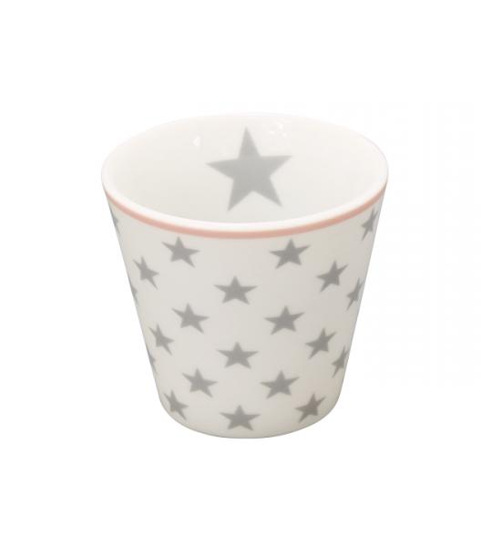 """Happy Espresso """"weiß mit hellgrauen Sternen"""""""