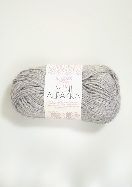 Mini Alpakka Hellgraumeliert