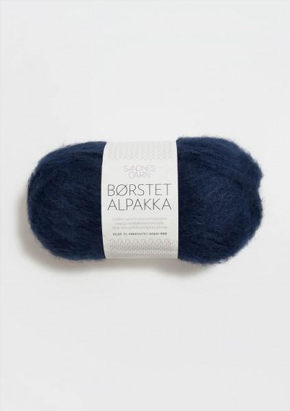 Borstet Alpakka Marineblau Fb. 5575