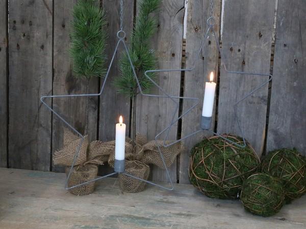 Sternen-Kerzenhalter (1) mit Aufhängung