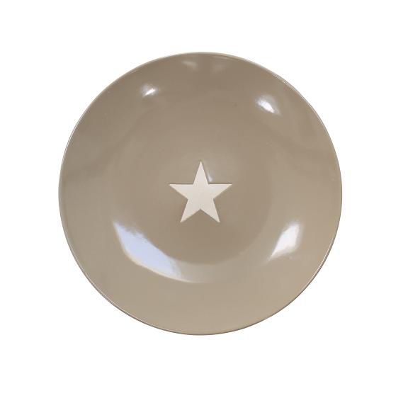 "Brightest Star Speiseteller ""taupe"""