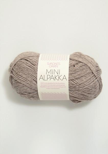 Mini Alpakka Grau-Beige-Meliert