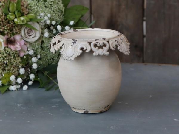 Vase mit Spitzenkante
