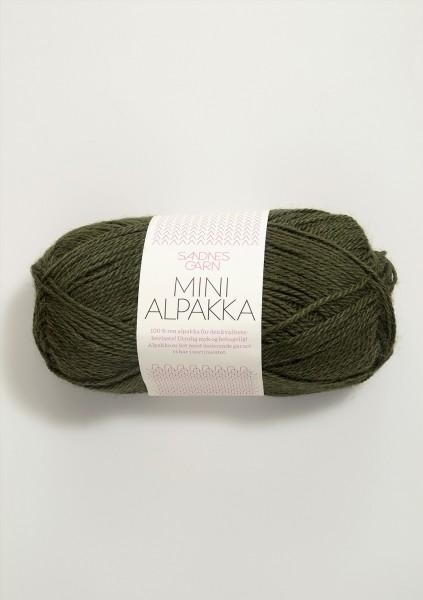 Mini Alpakka Moosgrün