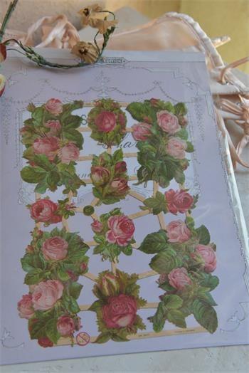 Scrap mit wunderschönen Rosenmotiven