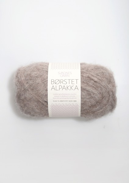 Borstet Alpakka Beigemeliert Fb. 2650