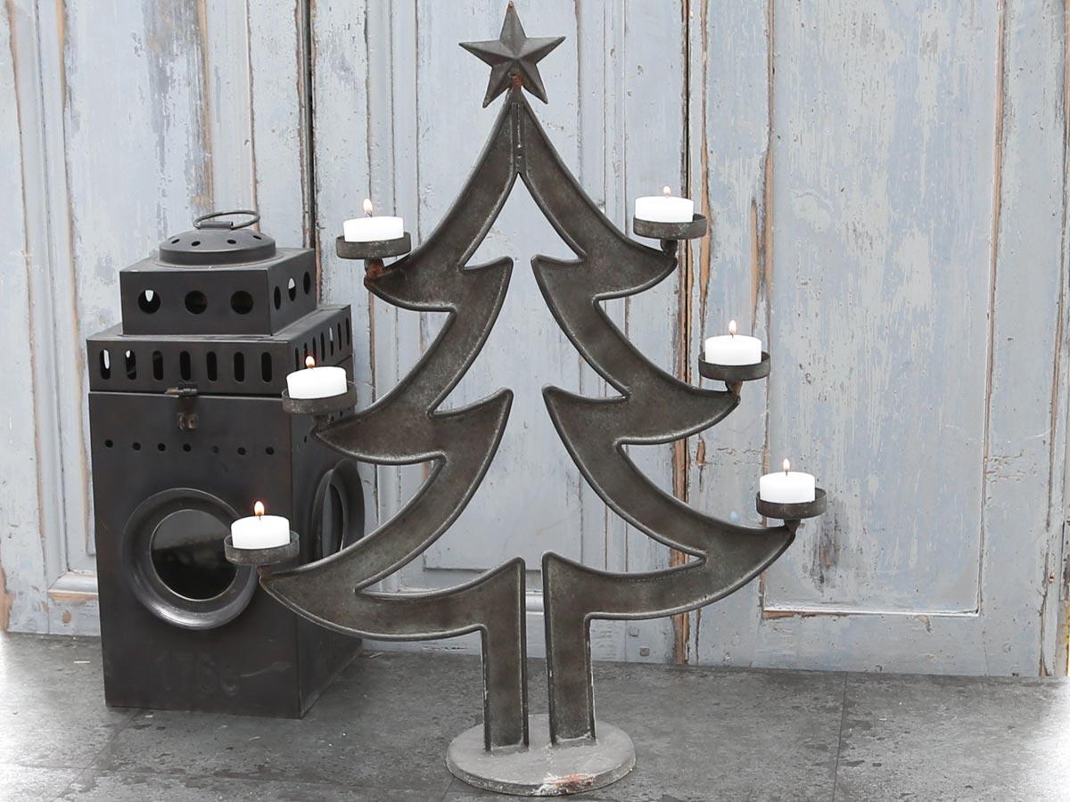 Toller leuchter weihnachtsbaum f r 6 teelichter aus - Weihnachtsbaum antik ...