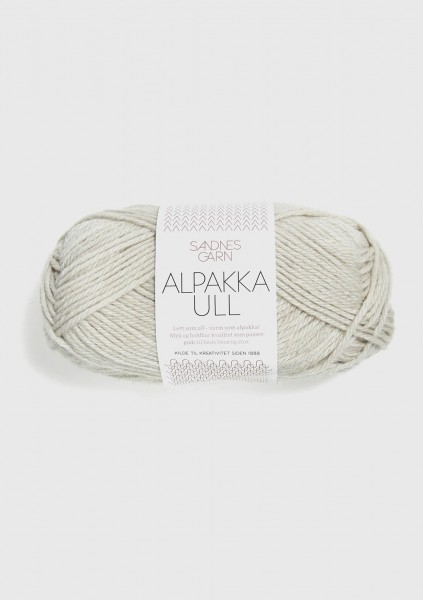 Alpakka Ull Kalkmeliert