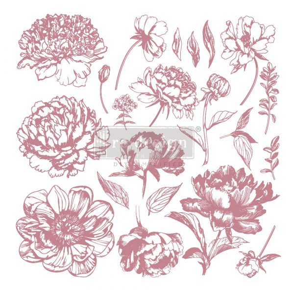 Re-Design Decor Stamps Linear Floral