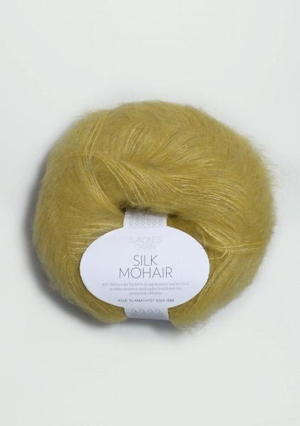 Silk Mohair Gelbgrün