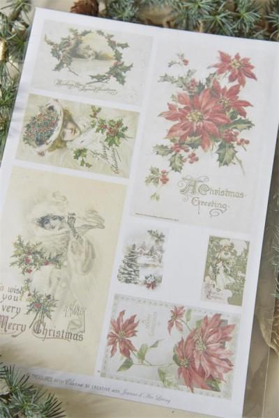 Bogen mit nostalgischen Weihnachtsmotiven