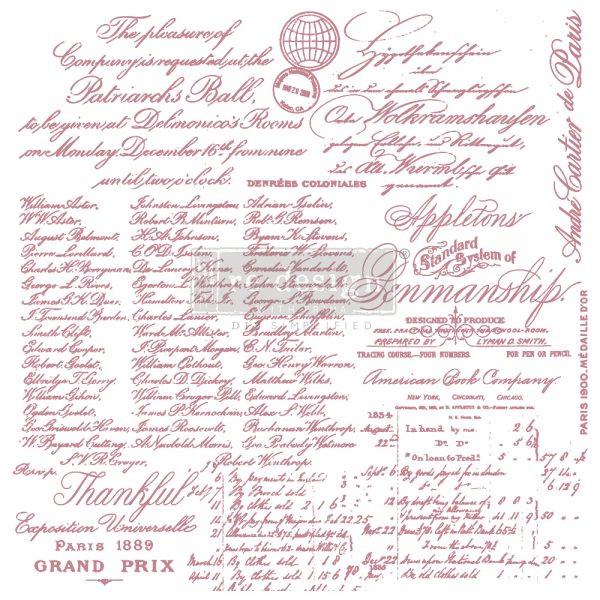 Re-Design Decor Stamps Handwritten Note