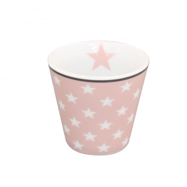 """Happy Espresso """"rosa mit weißen Sternen"""""""