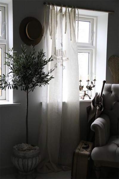"""Leinenvorhang """"Bretel"""" L 220 cm"""
