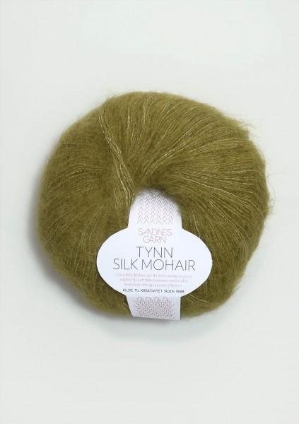 Tynn Silk Mohair Olivgrünmeliert
