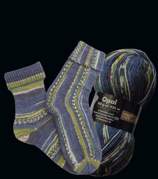 """Opal Hundertwasser """"Singender Dampfer"""" Sockenwolle"""