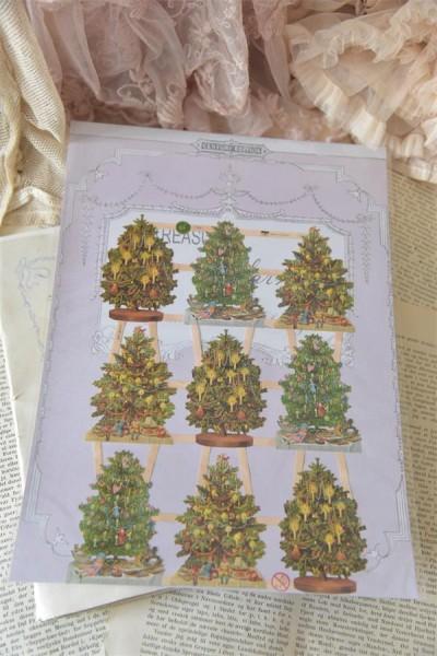 Scrappapier mit weihnachtlichen Motiven