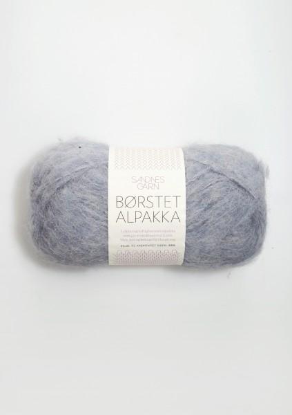 Borstet Alpakka Hell-Blaugrau Fb. 6220