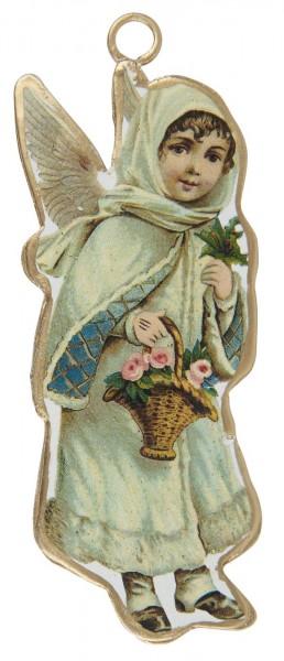 Engel mit Blumenkorb
