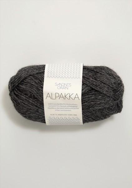 Alpakka Dunkelgraumeliert