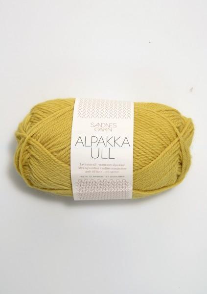 Alpakka Ull Maisgelb