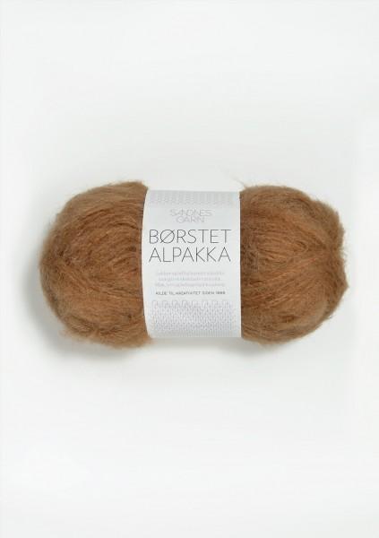 Borstet Alpakka Brunt Zukker Fb. 2543