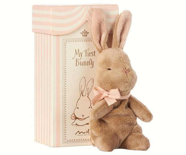 My First Bunny in Box Rose