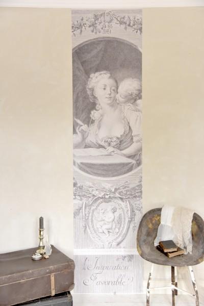 XL-Poster mit zauberhafter Dame & Engel 2,40m