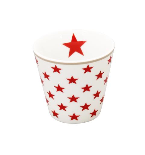 """Happy Espresso """"weiß mit roten Sternen"""""""