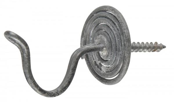 Haken spiralförmig grau
