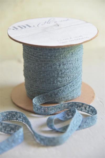 Spitzenband dusty blue