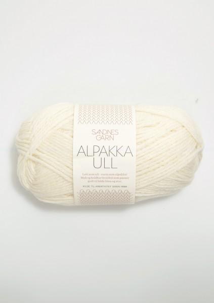 Alpakka Ull Weiß