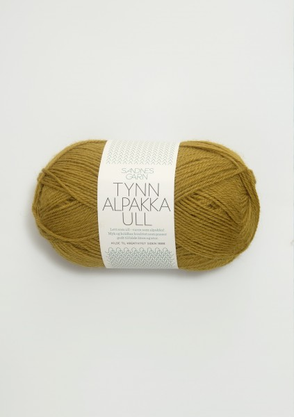 Tynn Alpakka Ull Ocker