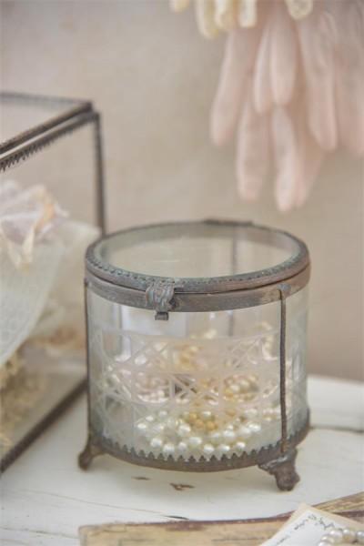 Glasschatulle rund (klein)