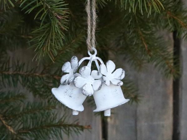 Weihnachtsglocken antik weiß