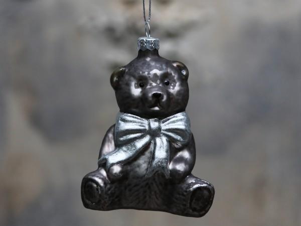 Weihnachtskugel Teddybär antique mocca