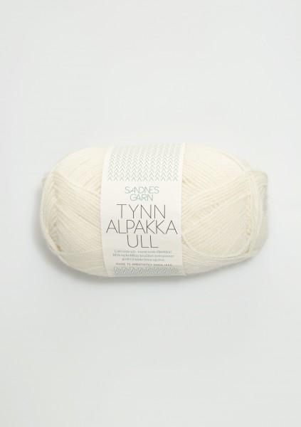 Tynn Alpakka Ull Weiß