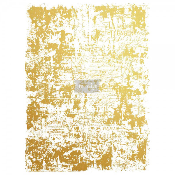 Transferfolie Gilded Distressed Wall