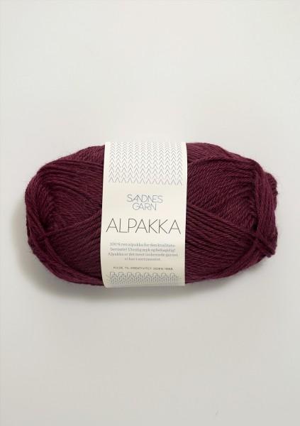 Alpakka Weinrot