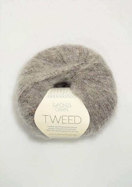 Tweed Hellgrau